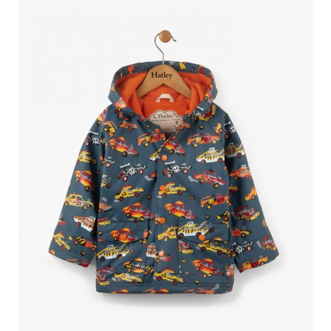 Parka impermeable niño MONSTER CARS capucha