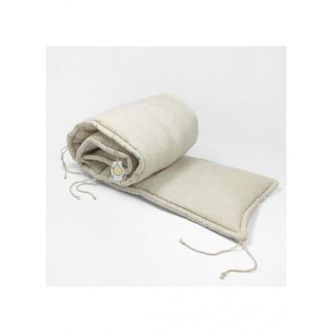 Protector contorno de cuna lino beige 60cm