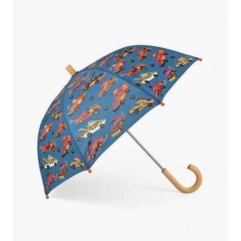 Paraguas infantil azul con MONSTER CARS