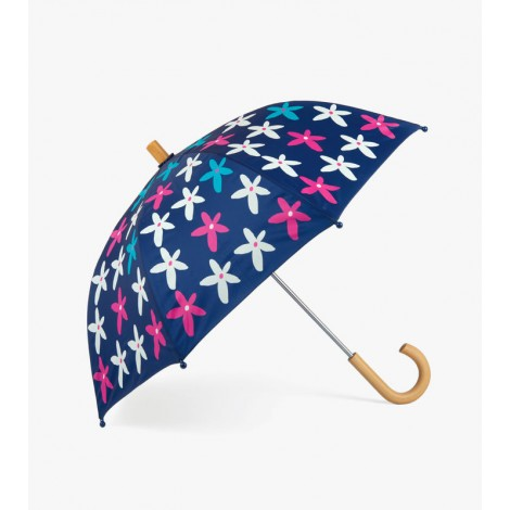 Paraguas niña azul con FLORES multicolor