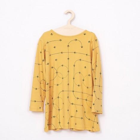 Vestido niña básico amarillo con mosquitas