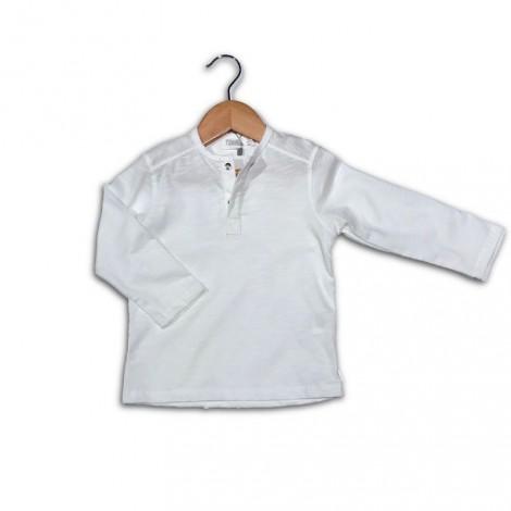 Camiseta bebé M/L botones crudo