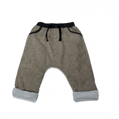 Pantalón bebé baggy beige con forro muy suave