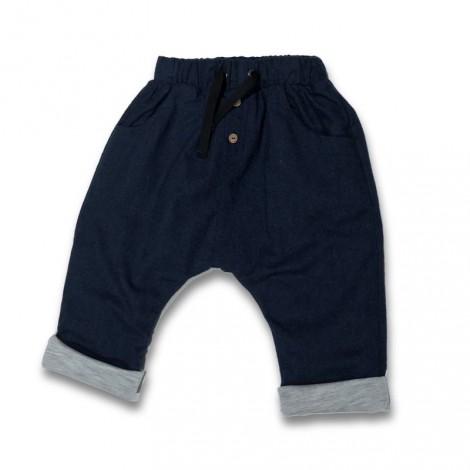 Pantalón bebé baggy denim forrado soft