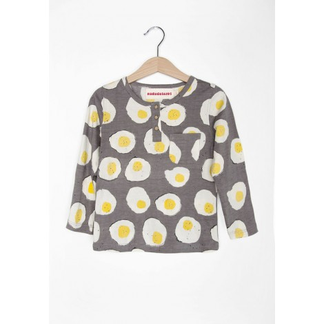 Camiseta infantil FRIED EGGS bolsillo