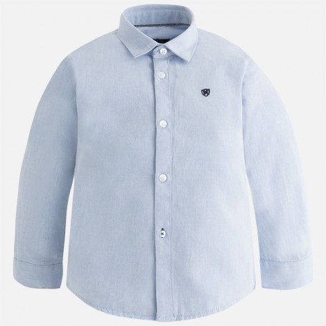 Camisa niño manga larga celeste