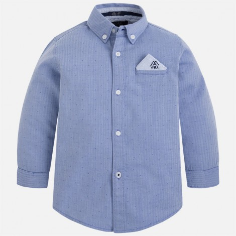 Camisa niño manga larga azul
