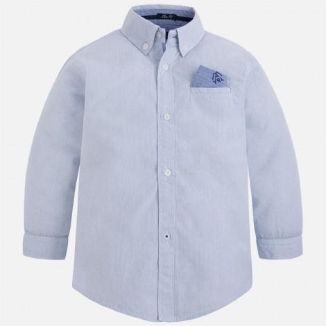 Camisa niño manga larga pañuelo celeste