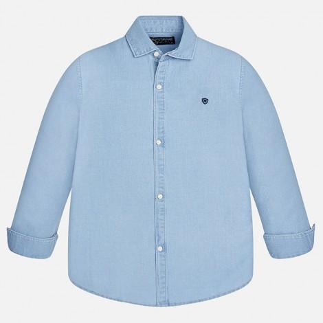 Camisa niño m/l espiga color DENIM BLEACHED