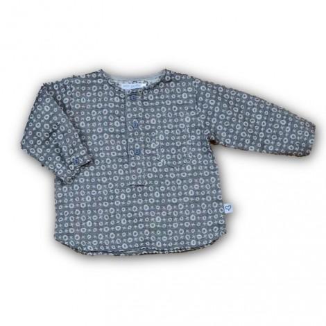 Camisa bebé NIL cuello redondo gris