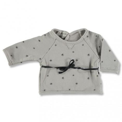 Jersey bebé jubón cruzado SWEATSHIRT gris