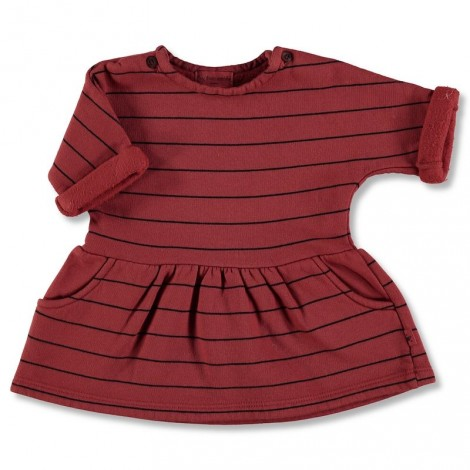 Vestido bebé GRANA STRIPES GARNET de algodón