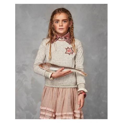 Vestido niña SUDADERA MULTICAPA acabado brillante
