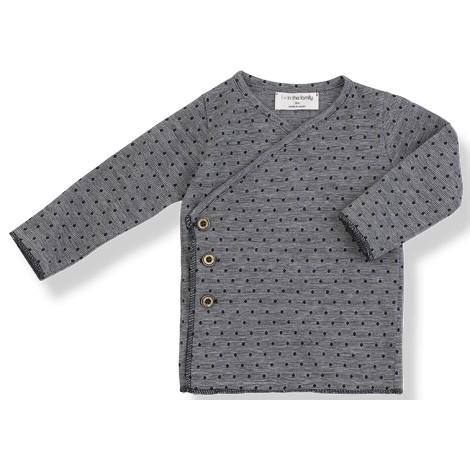 Camiseta bebé jubón botones ALBA en MARINO