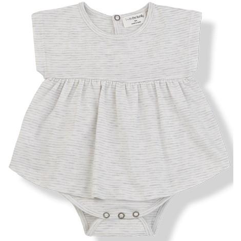 Vestido body bebé GALA sin mangas en NATURAL