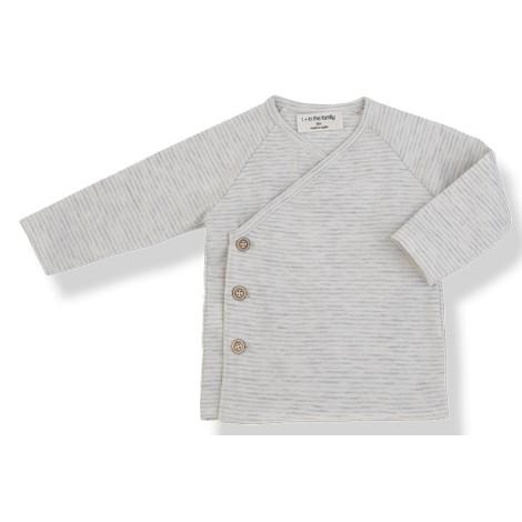 Camiseta bebé jubón botones MOMO en NATURAL