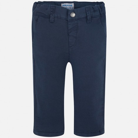 Pantalon chino bebé sarga basico color Marino