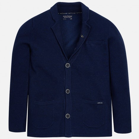 Chaqueta americana tricot niño color Azur