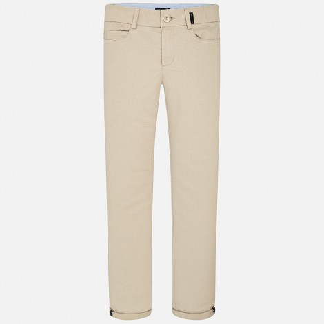 Pantalon niño plana stretch color Yute