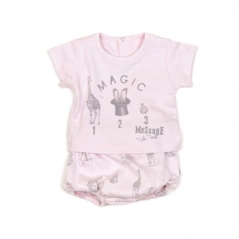 Conjunto bebé ranita + camiseta en NATURAL