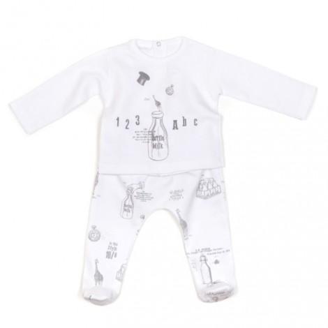 Conjunto bebé polaina + camiseta en ALICEICE