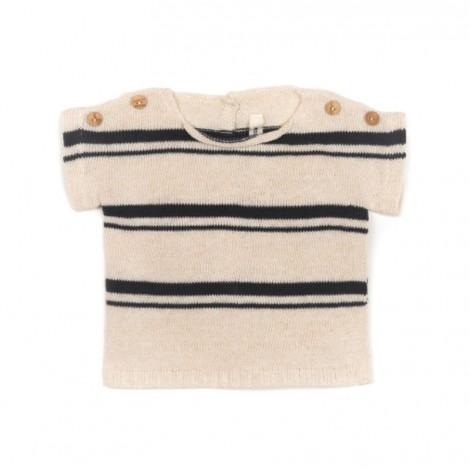 Camiseta bebé tricot (conjunto) en MILK