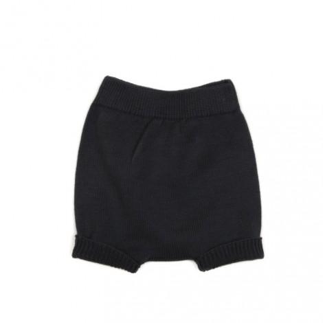 Pantalón bebé corto tricot (conjunto) en PLUMB