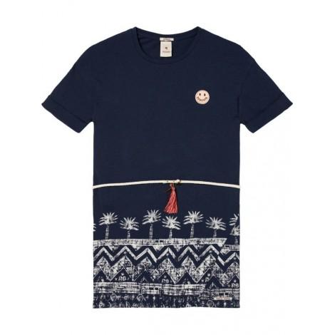Vestido niña camiseta estampado en INDIGO