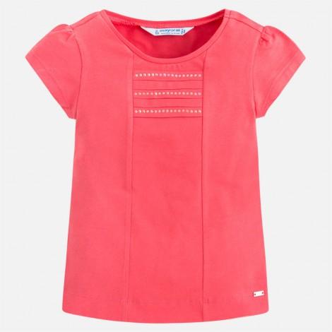 Camiseta niña m/c basica color Petunia