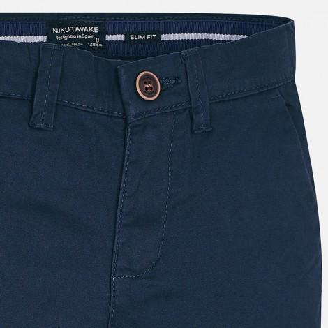 Pantalon chino niño sarga basico color Marino