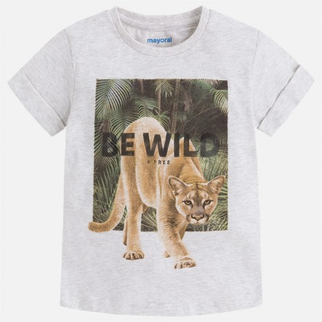 Camiseta m/c be wild color Piedra vig