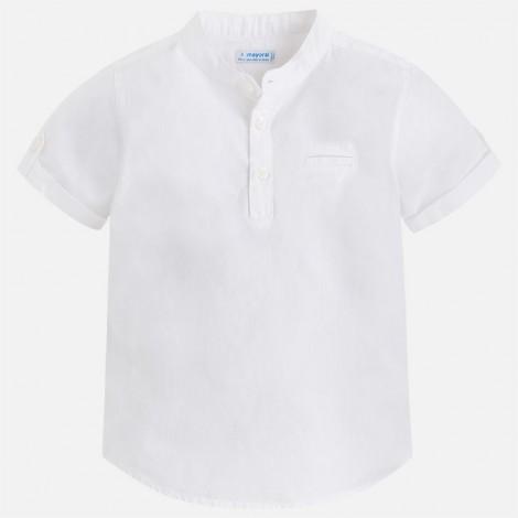 Camisa m/c cuello mao color Blanco