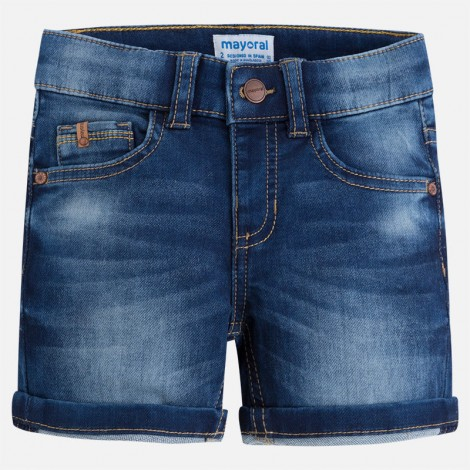 Bermuda niño knit denim color Oscuro