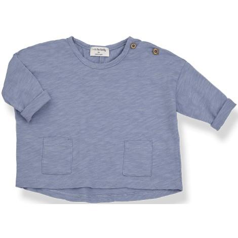 Camiseta bebé ASHA oversized en MAR