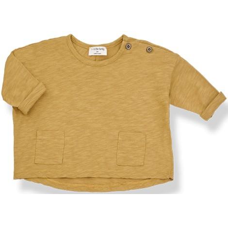 Camiseta bebé ASHA oversized en MUSTARD