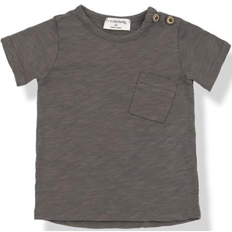 Camiseta bebé JUDD M/C bolsillo  en CACAO