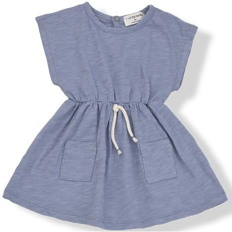 Vestido bebé KATYA cordón cintura en MAR