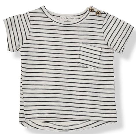 Camiseta bebé rayas MAGRITTE M/C en MARINO