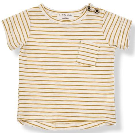Camiseta bebé rayas MAGRITTE M/C en MUSTARD