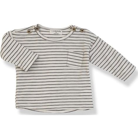 Camiseta bebé rayas RENOIR M/L en CACAO