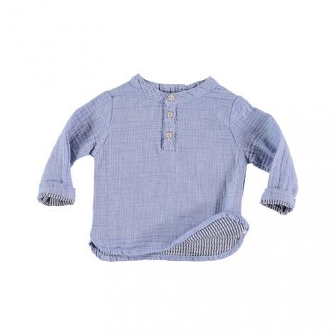 Camisa bebé mao PAUL BABY MARINE en INDIGO