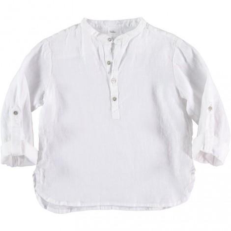 Camisa niño mao PAUL LINEN en WHITE