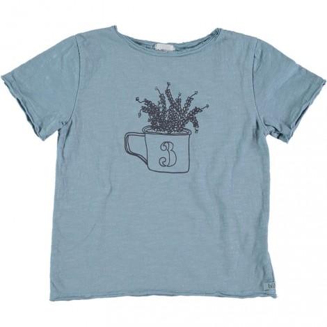 Camiseta infantil M/C CESAR PLANT en AQUA