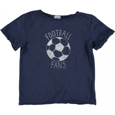 Camiseta niño M/C CESAR FOOTBALL en INDIGO