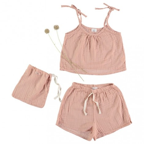 Pijama infantil SET PIPA KIDS en ROSE