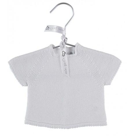 Camiseta canastilla bebé NEWBORN TOP en WHITE