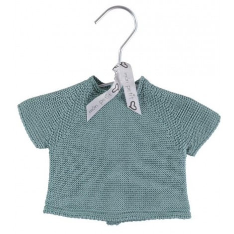 Camiseta canastilla bebé NEWBORN TOP en GREEN