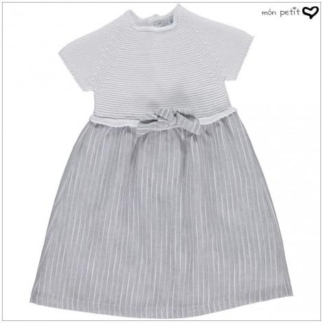 Vestido bebé NEWBORN DRESS en WHITE