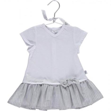 Vestido camiseta bebé BEA en GREY