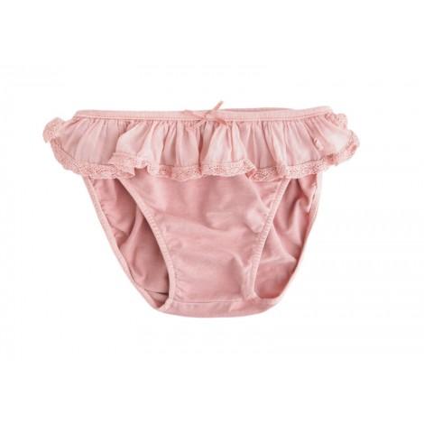 Braguita bikini niña volantes rosa